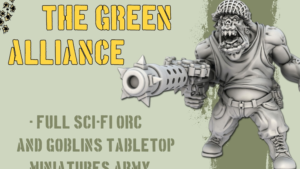 The Green Alliance - scifi WW2 Orc Miniatures project video thumbnail