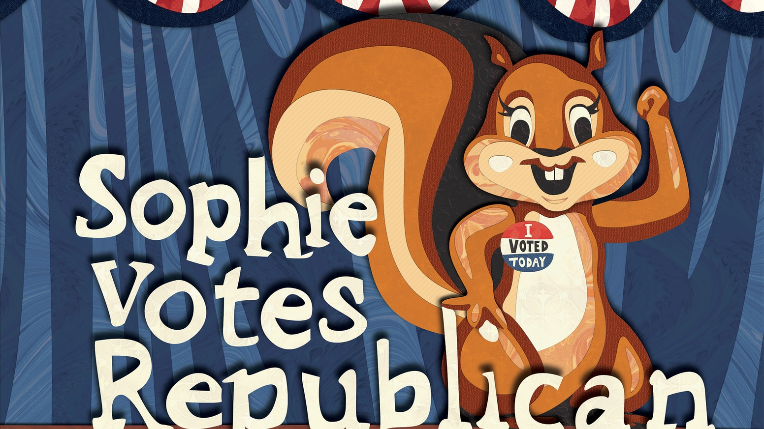 A witty illustrated children's book promoting conservative values, patriotism, and the importance of voting!