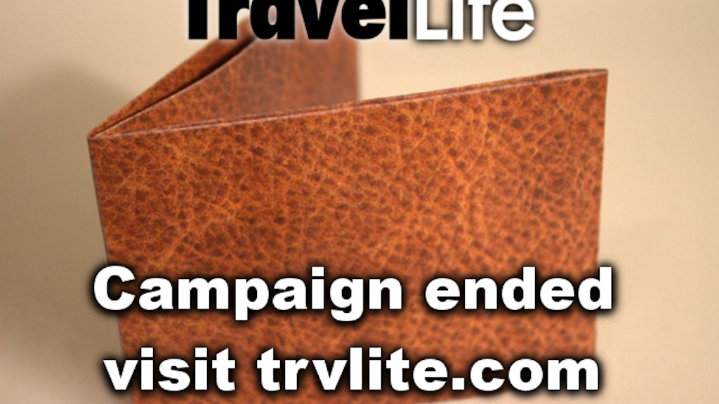 TravelLite: The Smallest Tyvek Wallet on Earth project video thumbnail