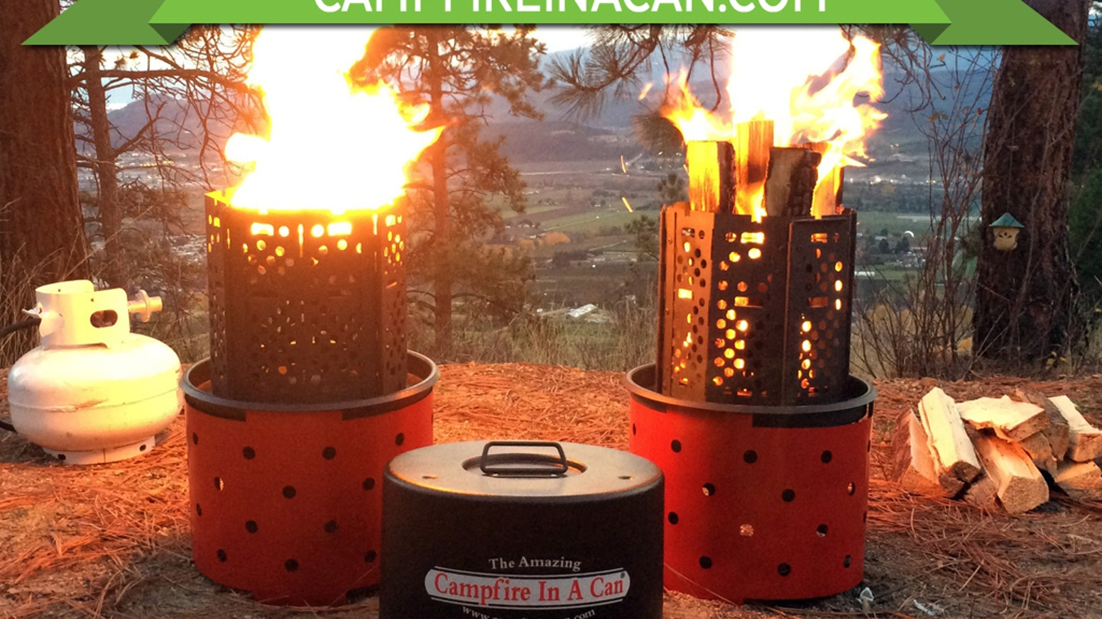 Fire up the good times with a portable campfire that burns wood or propane, enjoy a fire anytime anywhere. Great for camp cooking too!