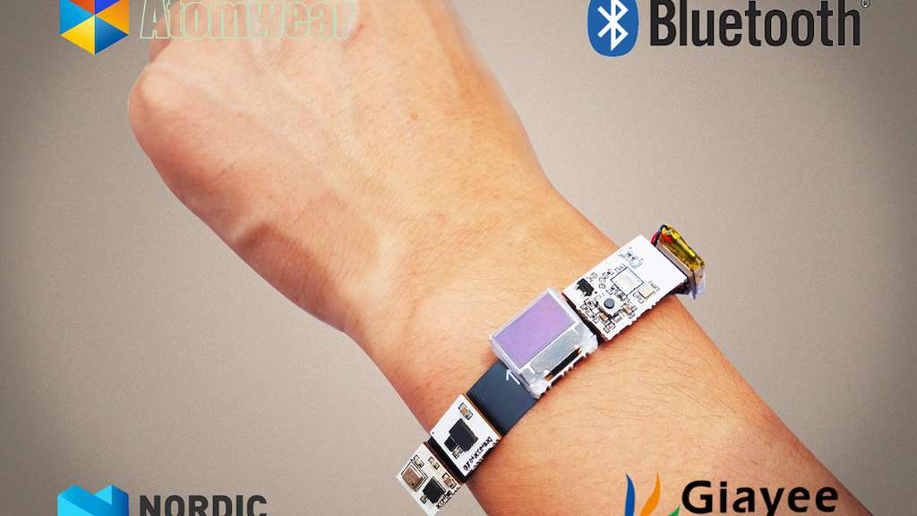Atomwear is a micro, modularized, open source, wearable BLE device for DIYers. It makes any BLE(Bluetooth Low Energy) projects easier.