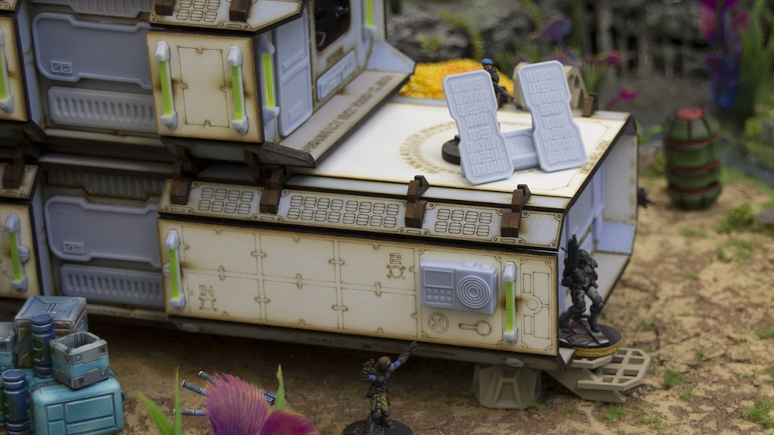Forward Base: Sci-fi Scenery for Infinity Wargamers by