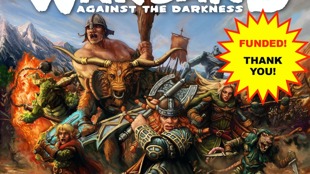 WARBAND: Against the Darkness Strategy Board Game project video thumbnail