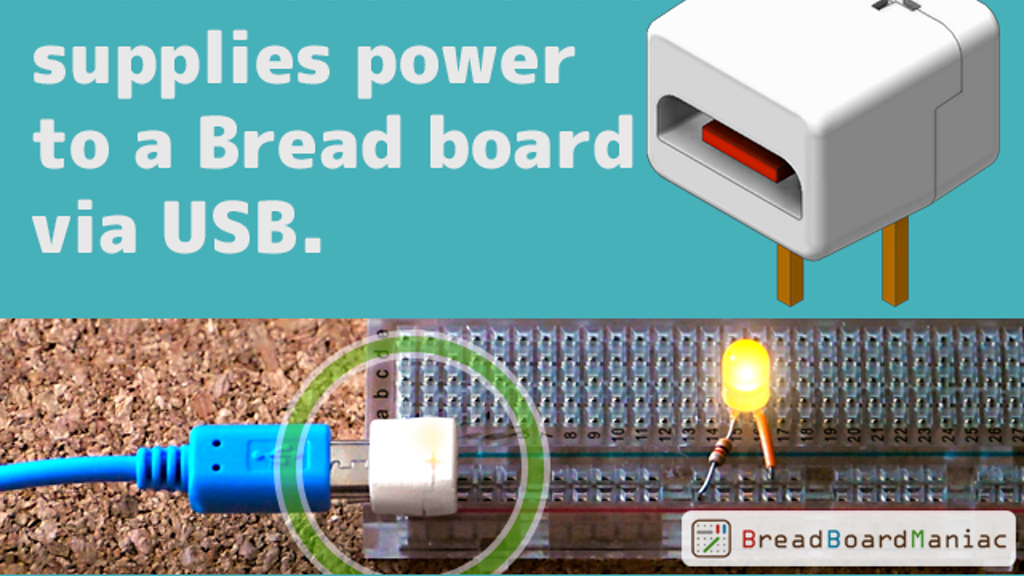 The World's Smallest? Tiny Breadboard Power Supply USB project video thumbnail