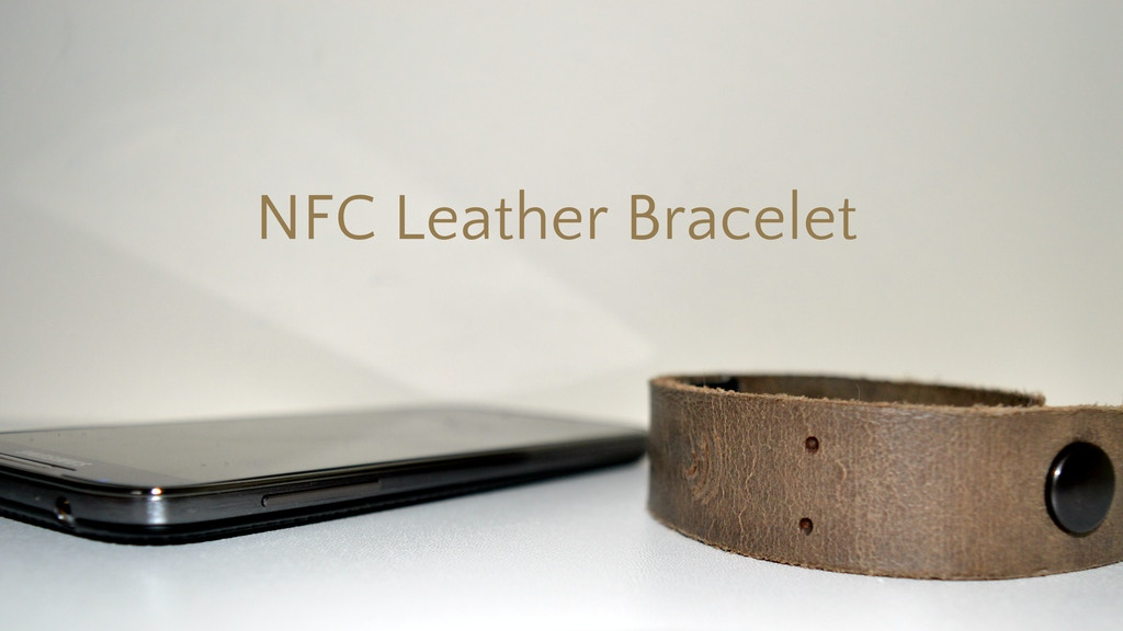 The First Leather NFC Bracelet - With 3 Chips! project video thumbnail