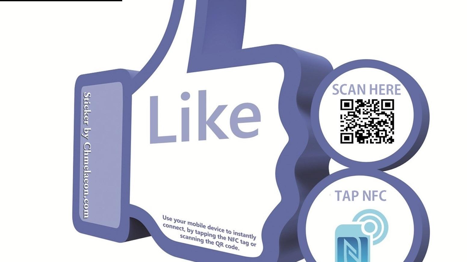 Facebook NFC QR Like & Check in Analytics Innovative Adapt