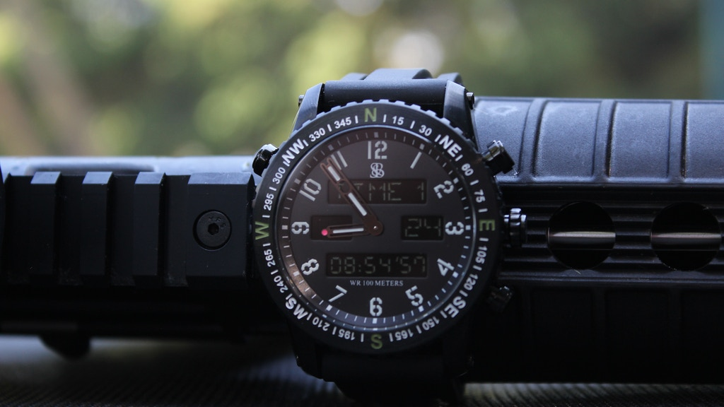 The Ambush Digital Analog Watch by Smith & Bradley project video thumbnail