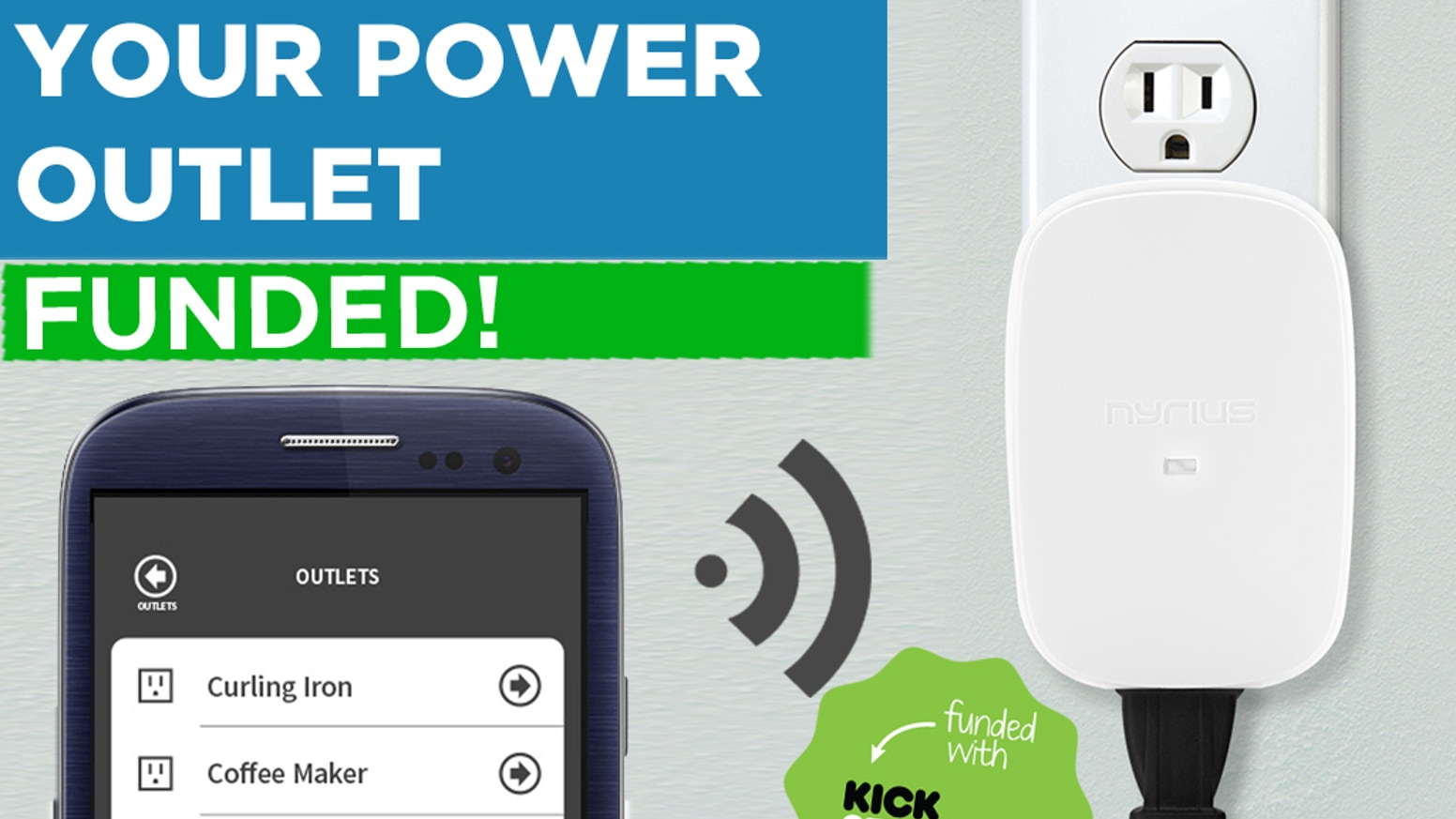 Wirelessly control any electronics that plug into your power outlet from your smartphone using Bluetooth technology