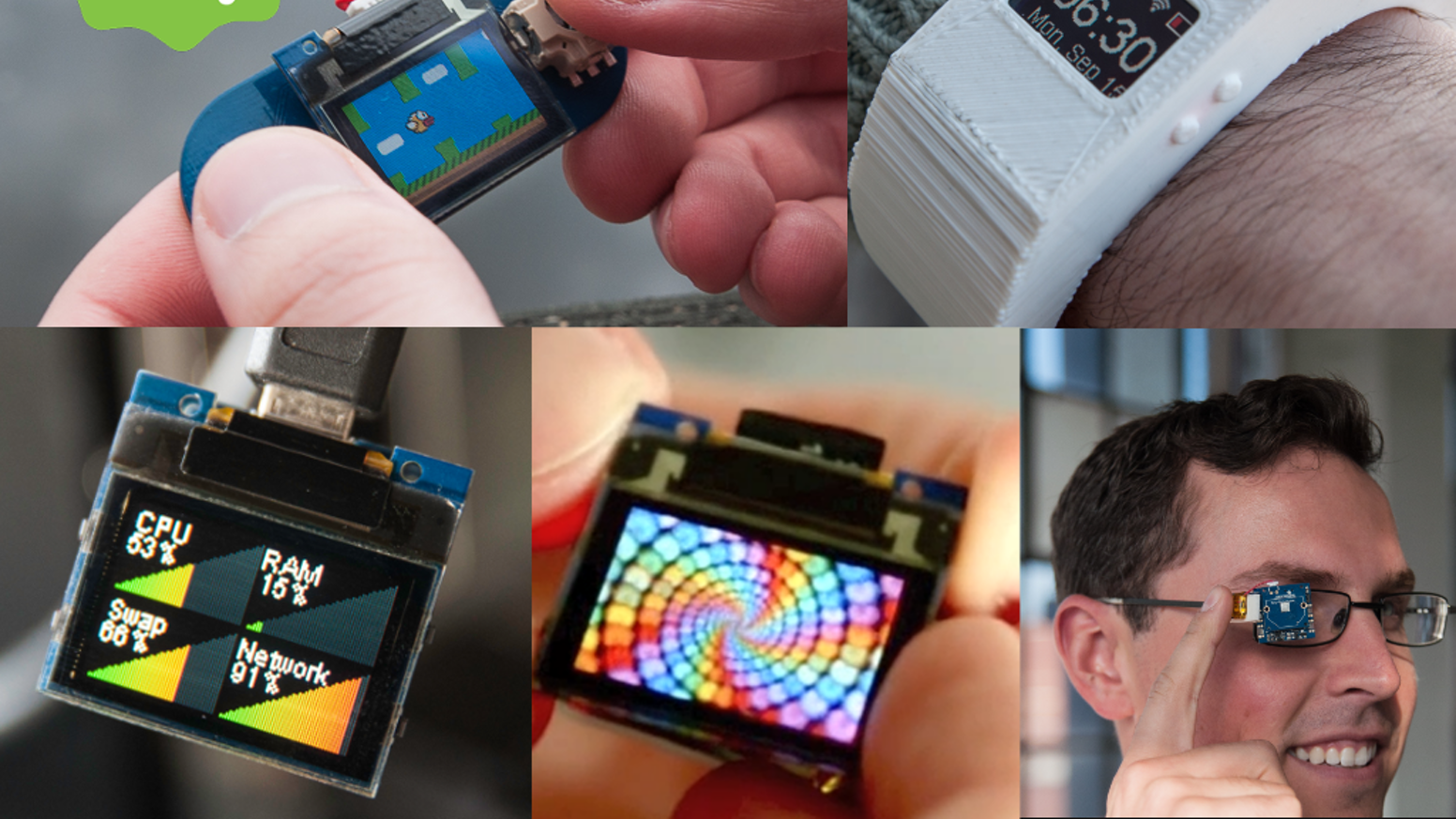 TinyScreen: A color display the size of your thumb! by Ken