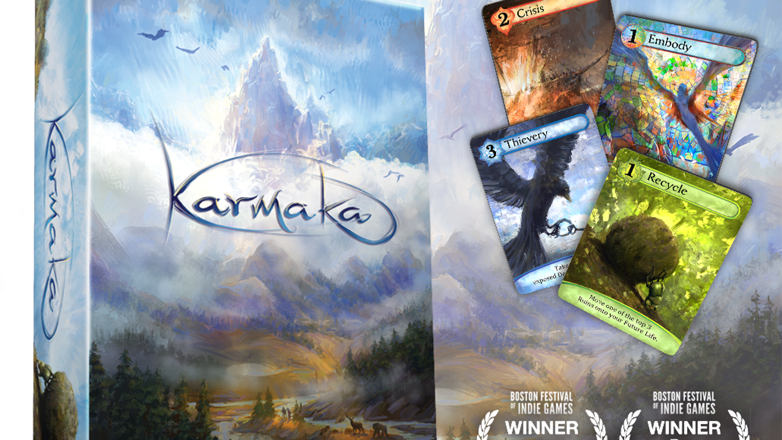 From the creators of Osmos comes Karmaka, a competitive card game that plays out over multiple lives.
