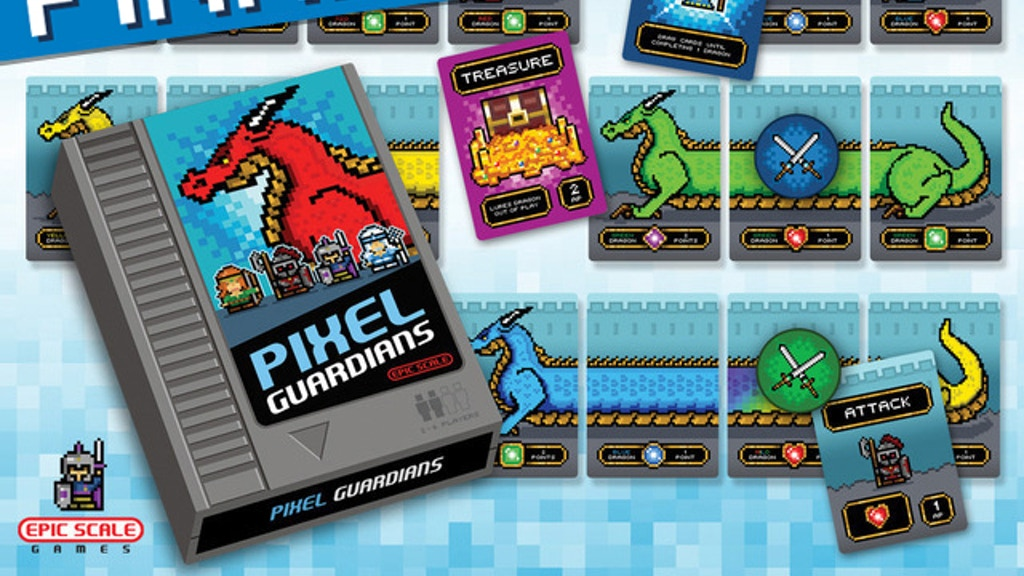 Pixel Guardians: a Dragon Building & Slaying Card Game project video thumbnail