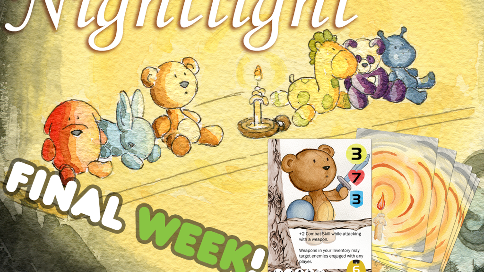 Nightlight is the cooperative card game that resurrects your childhood nightmares and forces you to face them as a stuffed animal!
