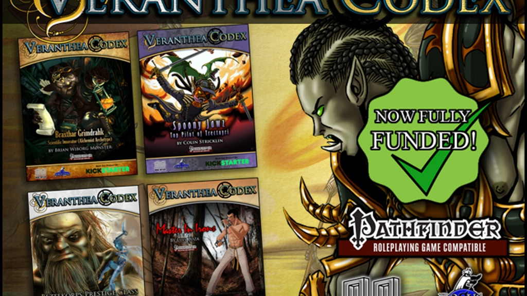 Veranthea Codex - Pathfinder RPG setting/PC resource/GM tool project video thumbnail