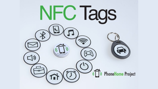 nfc tag stickers automate your smartphone by phonehome. Black Bedroom Furniture Sets. Home Design Ideas
