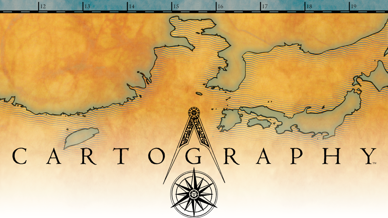 Cartography: A map-making, territory claiming, strategy game. 2 players, ages 10 and up. Adjustable play time starting at 15 min.
