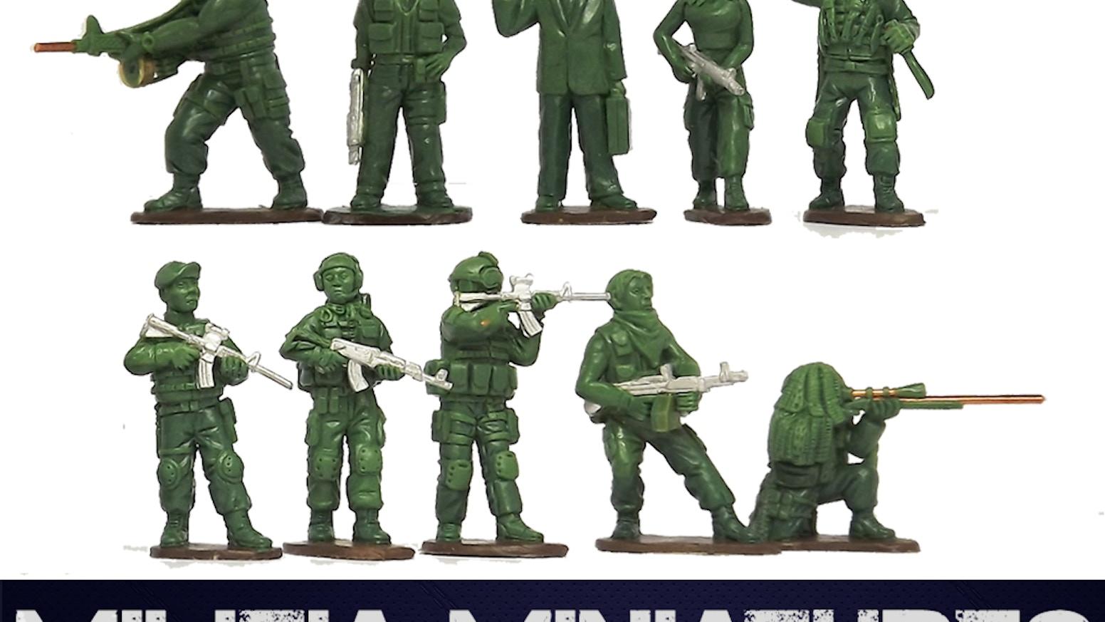 Militia Miniatures - 28mm Modern Mercenaries! by Leon Pengilley