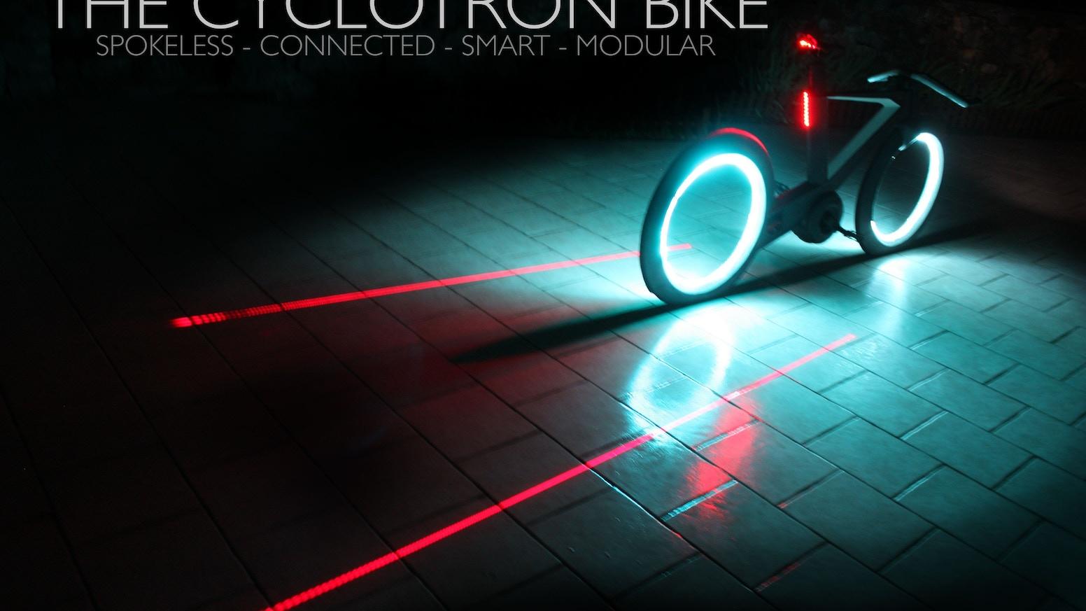 The Cyclotron Bike Revolutionary Spokeless Smart Cycle