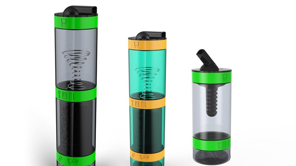 InteliShake - Smart sports drinks bottle + built-in storage project video thumbnail