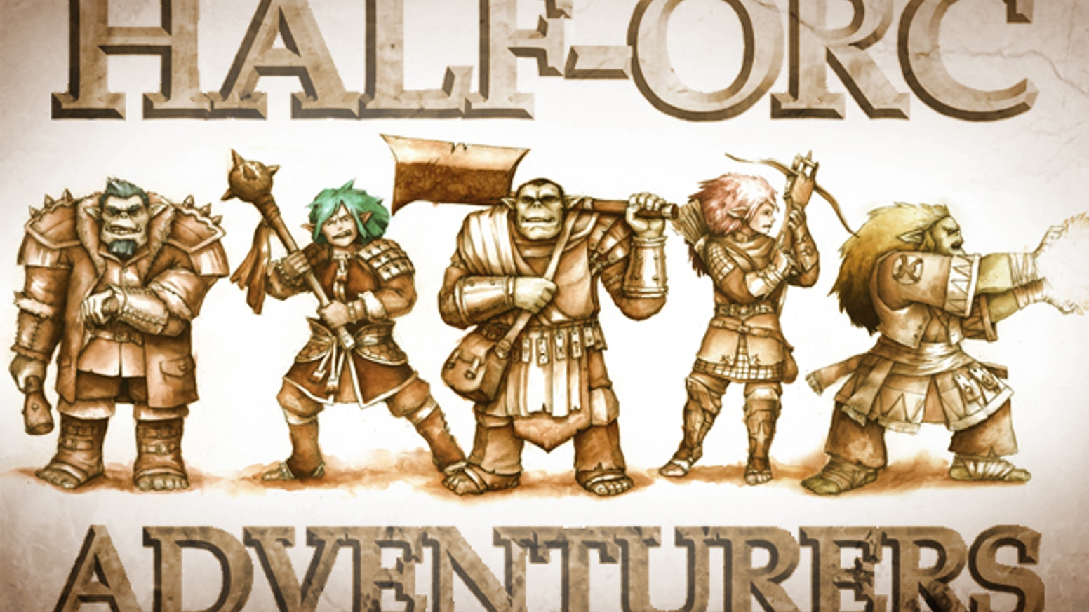 The Half-Orc Adventurers Project will create a diverse group of Half-orc miniatures for Dungeon-crawling and and tabletop wargames.