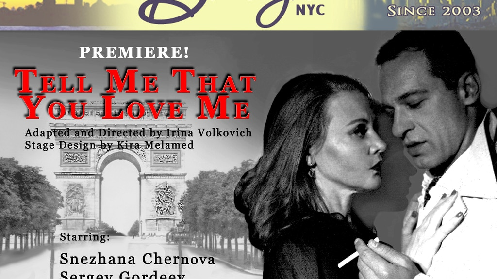 Tell Me That You Love Me project video thumbnail