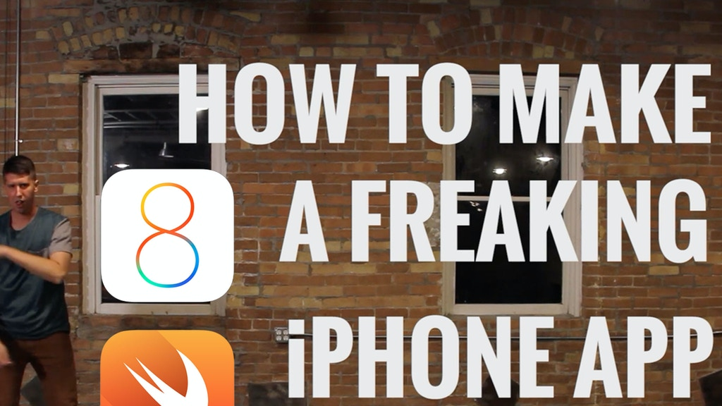 APPLE WATCH How to Make a Freaking iPhone App - iOS 8 Swift project video thumbnail