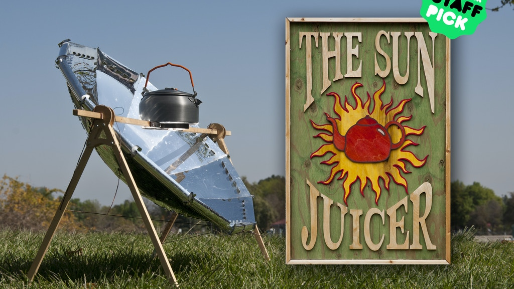"""The Sun Juicer""  Ultralight Parabolic Solar Cooker project video thumbnail"