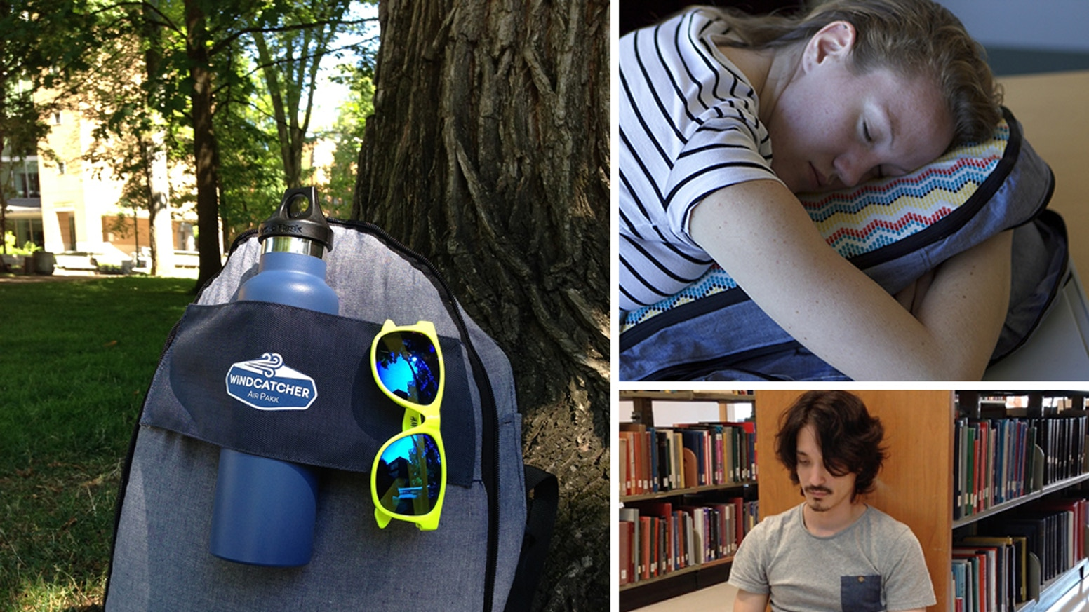 Our backpack quickly & easily transforms from bag, to pillow, to pad & back again, allowing you to comfortably relax wherever you are.
