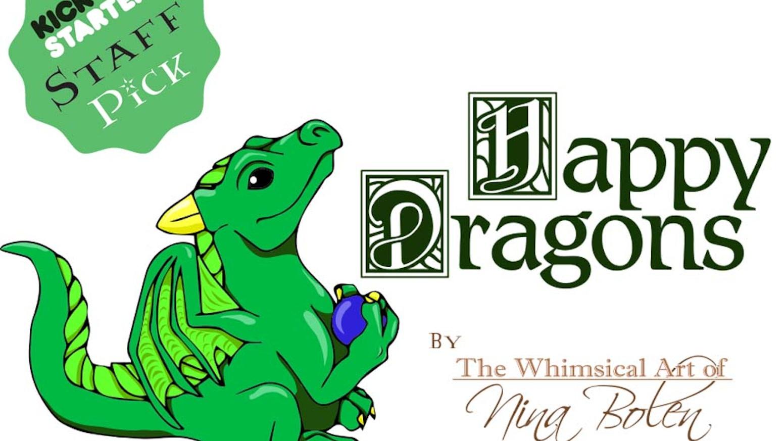 Happy Dragons! Whimsical Dragon Sculptures by Nina Bolen by Nina ...
