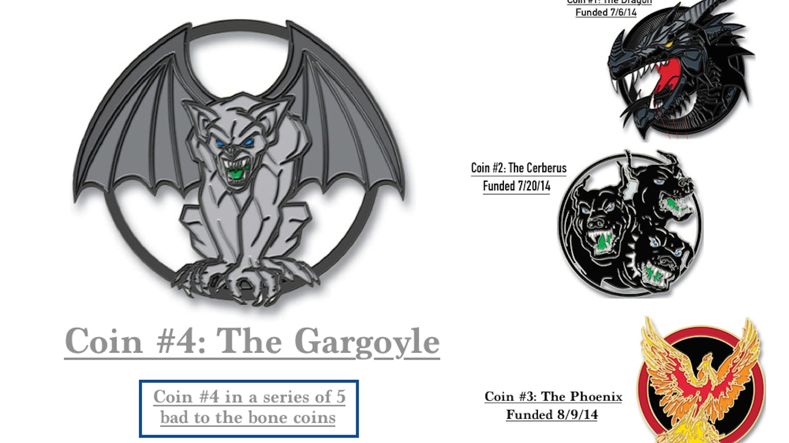Dragon Head Challenge Coin Series - Coin #4: The Gargoyle by