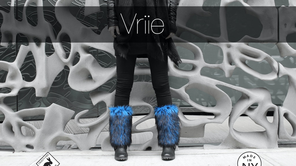 Vriie: cruelty-free faux fur fashion accessories made in NY project video thumbnail