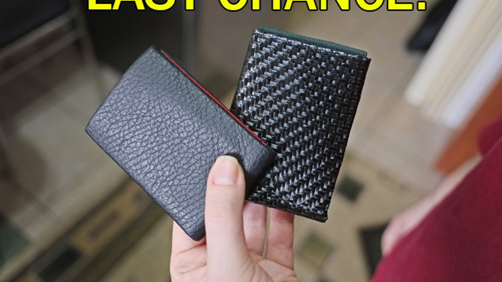 NERO: RFID Blocking Wallet Leather or Kevlar + Carbon Fiber project video thumbnail
