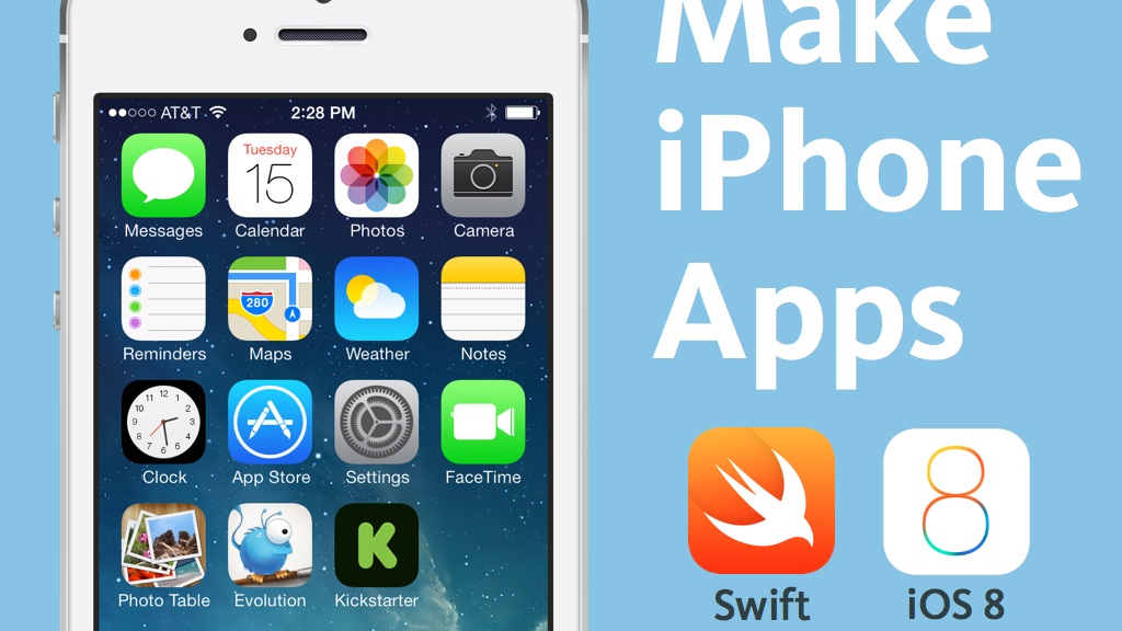 Make iPhone apps + Apple Watch apps with Swift for iOS 8 project video thumbnail