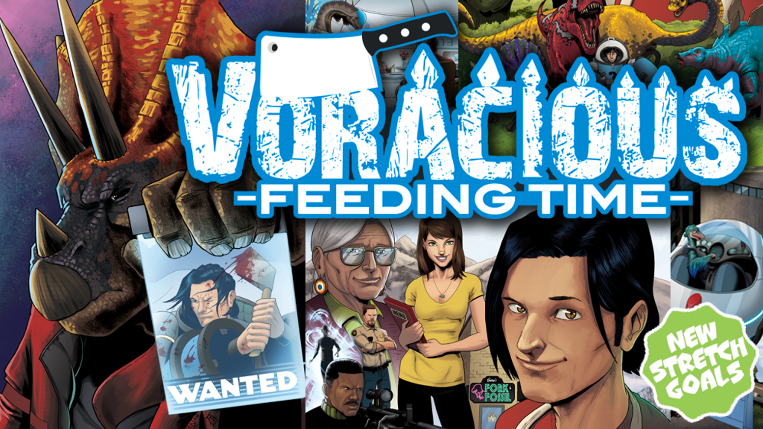 A 5-issue series that continues the critically acclaimed VORACIOUS story published by Action Lab Comics! Top Chef Meets Jurassic World!