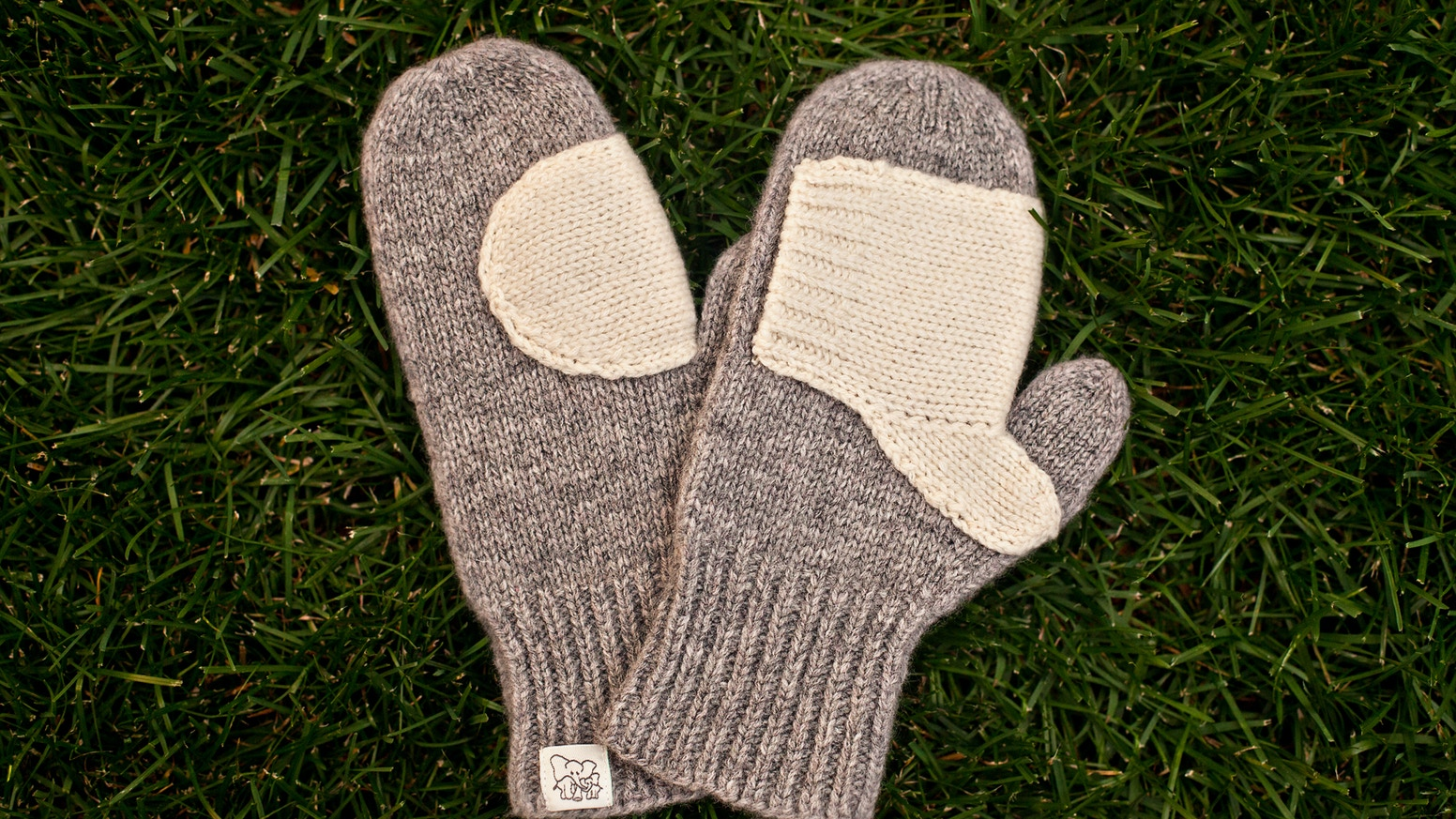 Forget Me Knot Mittens are women's mittens with a child-sized mitten attached to the palm of your hand, for hand holding on the go!