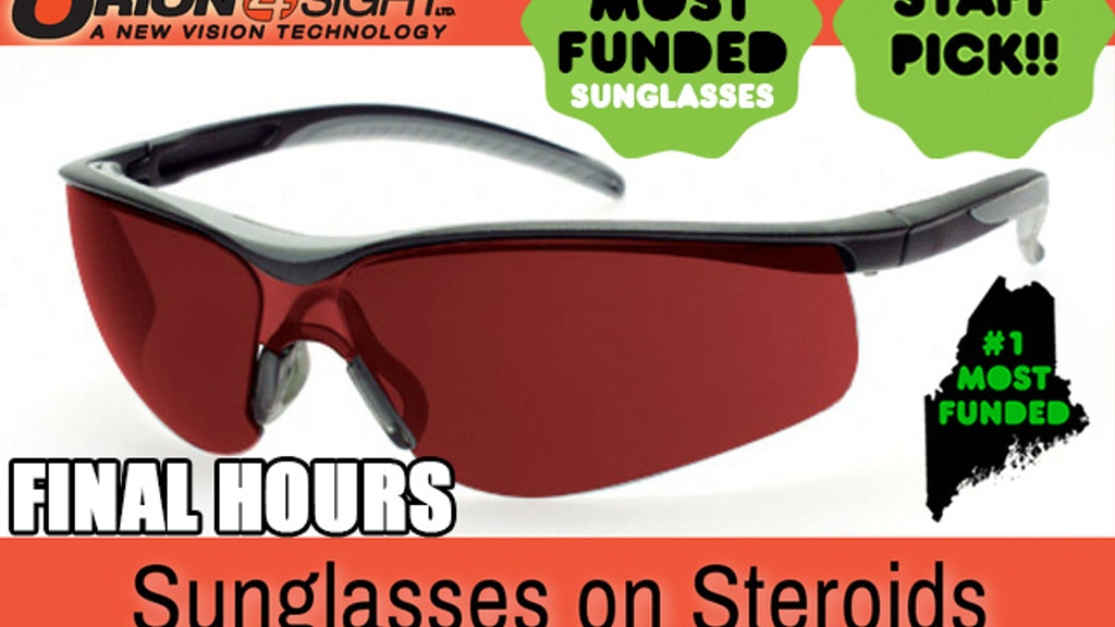 34ad92b0ad1 ORION4Sight  Sunglasses On Steroids by John Galley — Kickstarter