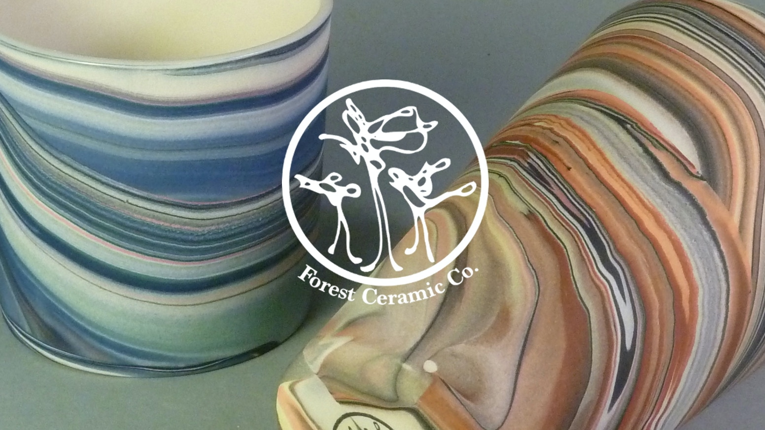 Patterned Porcelain Cup Series by Forest Ceramic Company by