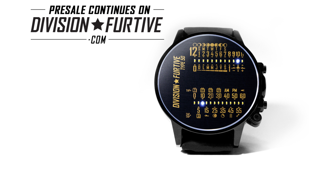 DIVISION★FURTIVE Type 50 Limited Edition Wrist Watch project video thumbnail
