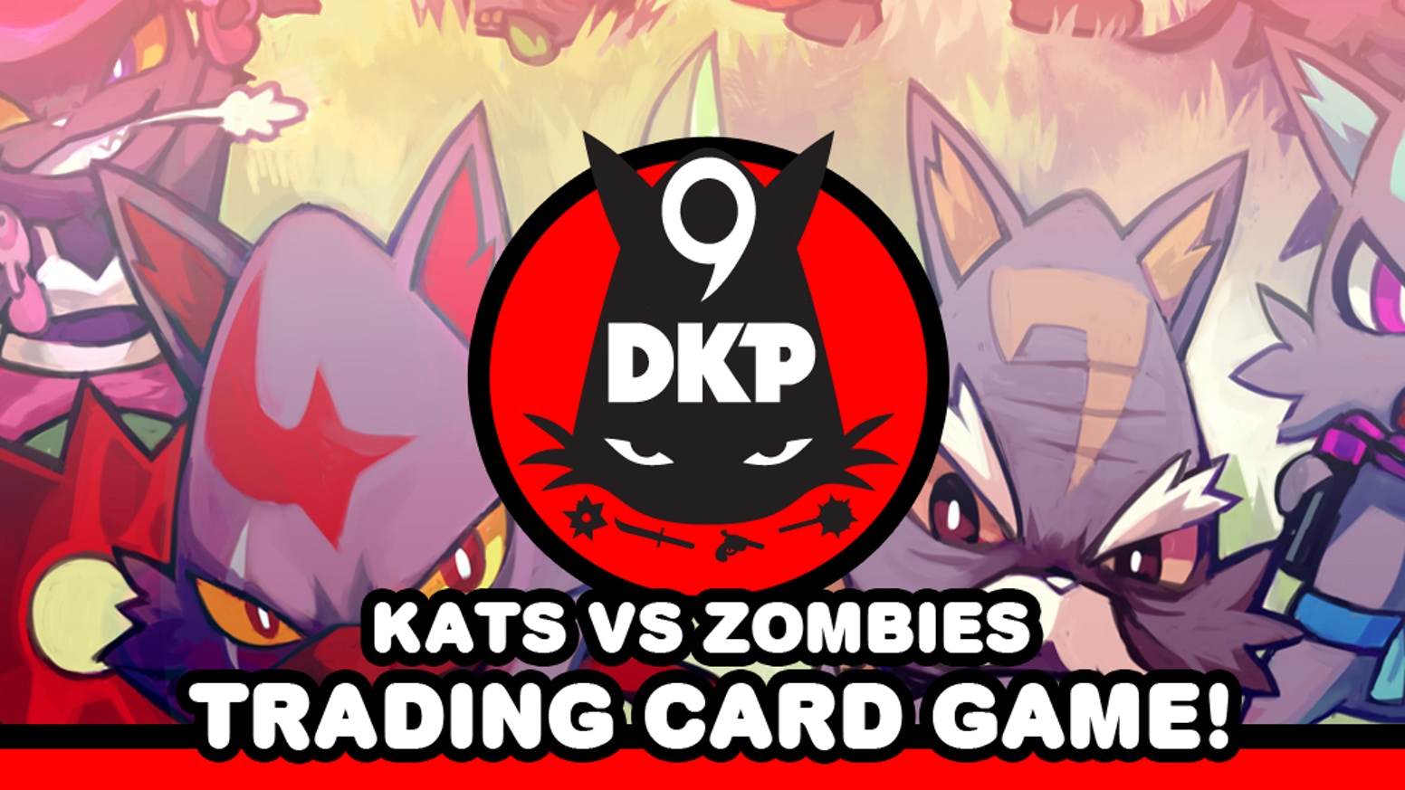 KATS vs ZOMBIES trading card game by esctoy.com. Featuring the artwork of HATO MOA, ERICK SCARECROW & OTHERS!