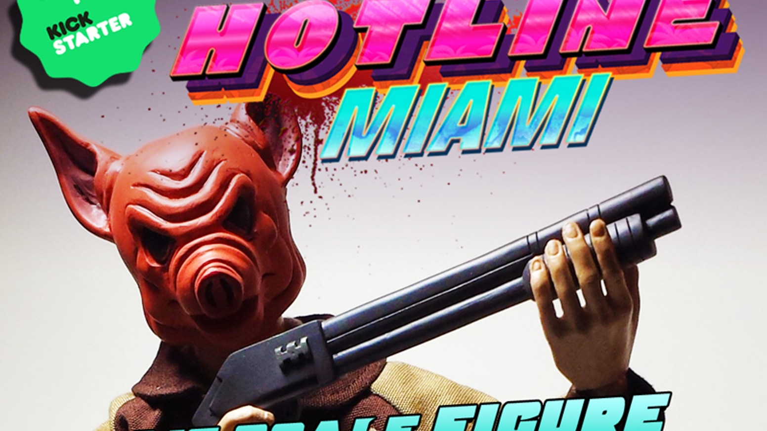 """First ever 1/6 scale """"12 inch"""" Hotline Miami Jacket articulated figure by Dennaton, Devolver Digital and esctoy.com"""