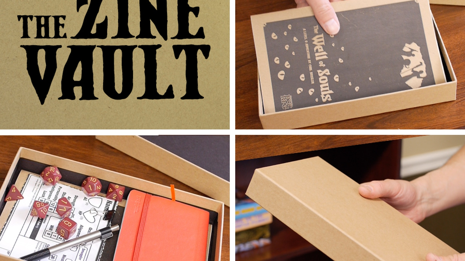 The Zine Vault is a better way to store, organize, and transport your growing zine collection, plus dice, pencils, and more.