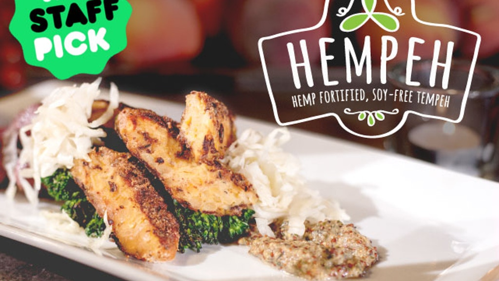 HEMPEH Hemp Fortified Soy-Free Tempeh by Smiling Hara Tempeh project video thumbnail