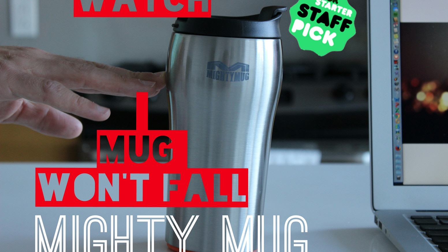 Mighty Mug grips to your desk when knocked into but lifts naturally. Powered by Smartgrip technology Mighty Mug is a new smarter mug.