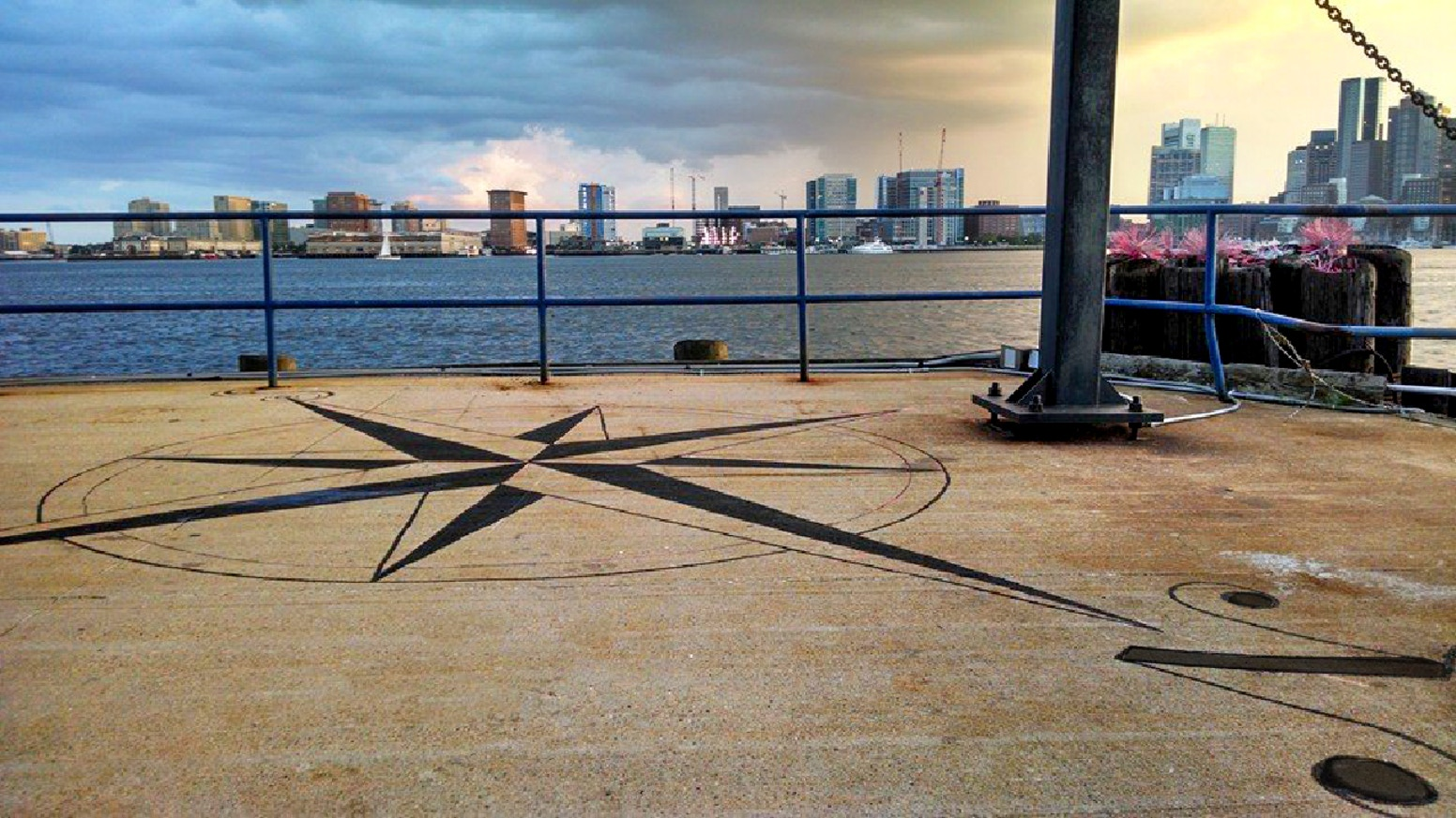 Connected by Sea: Boston's 1000-ft Tattoo! 19 large tattoo designs stained into the @HarborArts pier, honoring the cultures we've been connected to by sea; an inclusive story of Boston's history, now part of the HarborWalk.