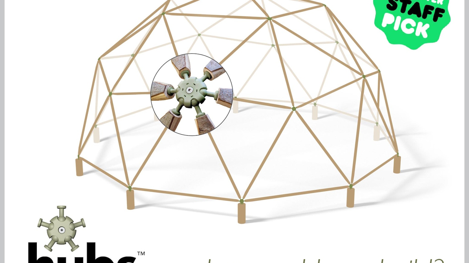 hubs = geodesic domes made simple by Chris Jordan and Mike