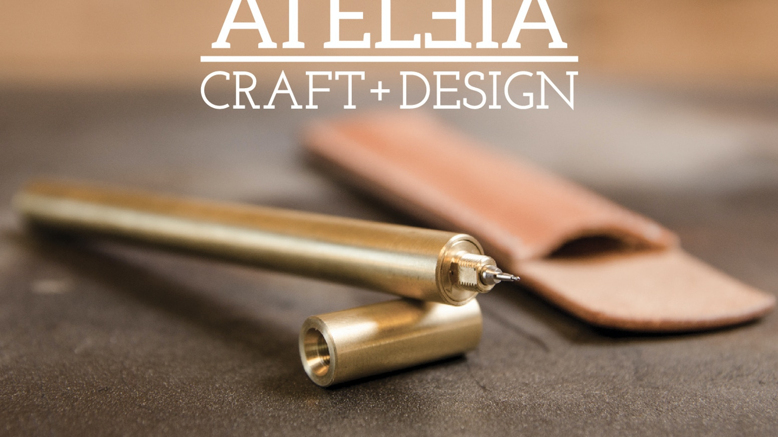ATELEIA's brass pen houses Hi-Tec-C and other popular cartridges and pairs well with hand made leather journal and accessories.