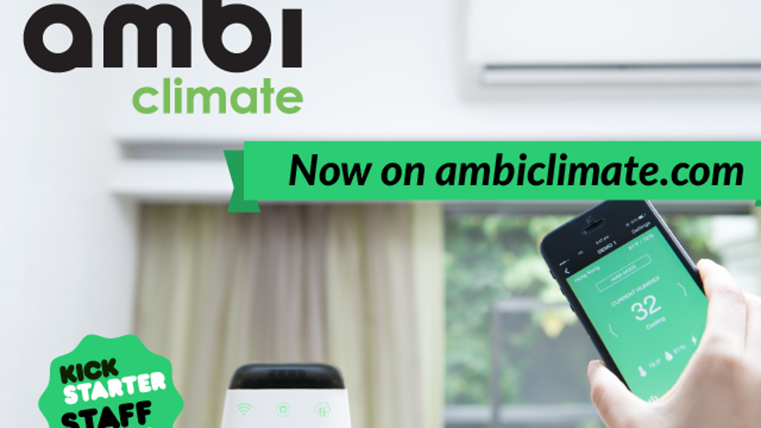 Learns about your habits & home environment. Auto adjusts AC for ideal temperature & energy savings. Remote access via Android/iPhone.