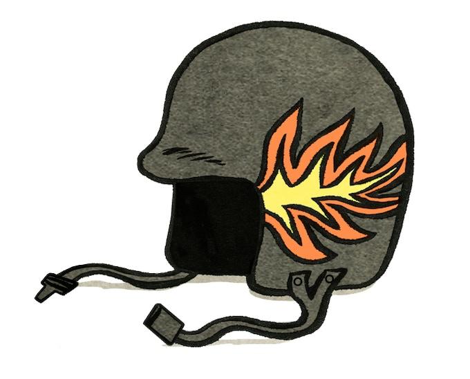 Willie's super cool helmet!