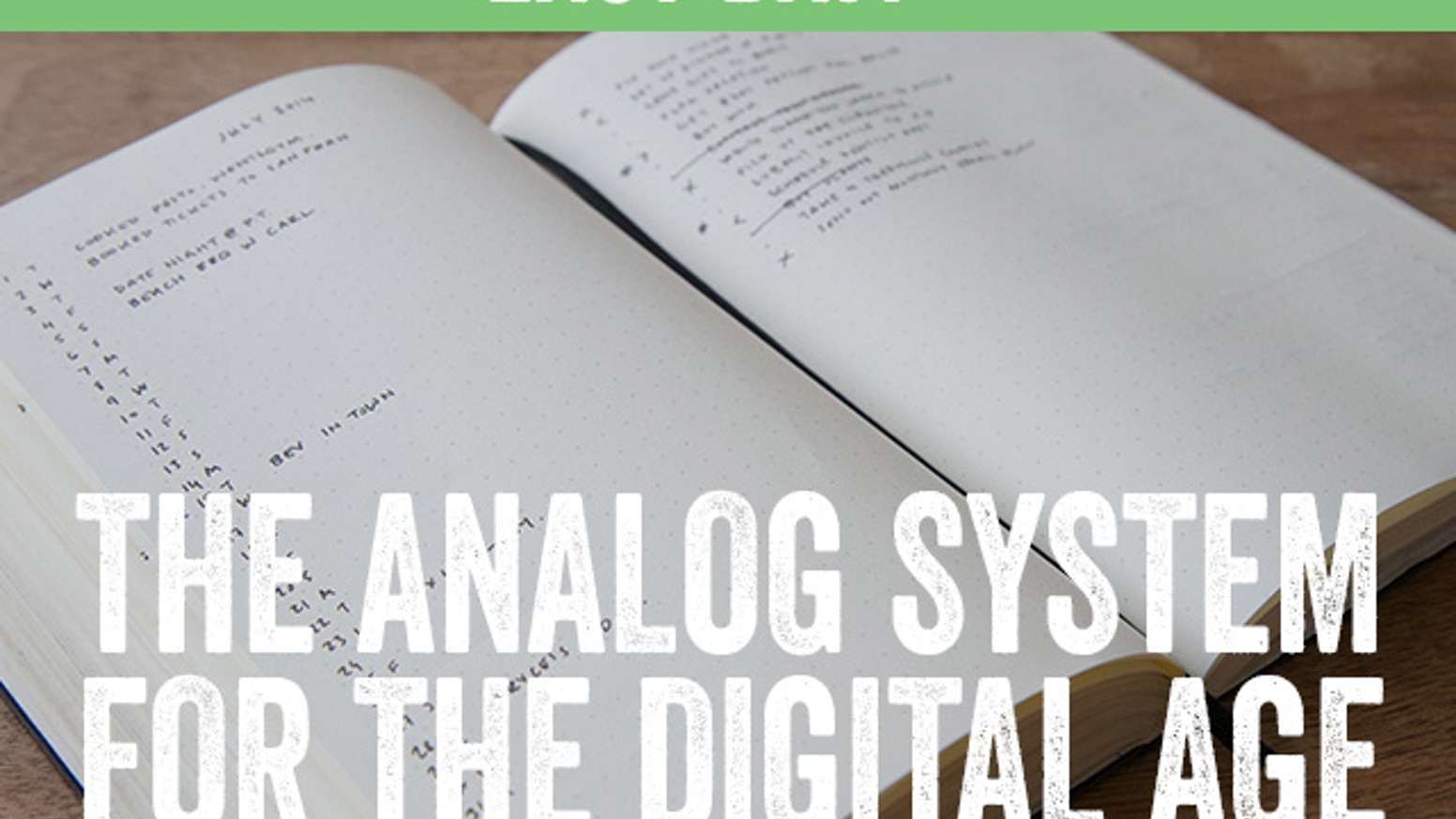 The analog productivity system that offers the freedom of a blank page with the clarity of a digital system.