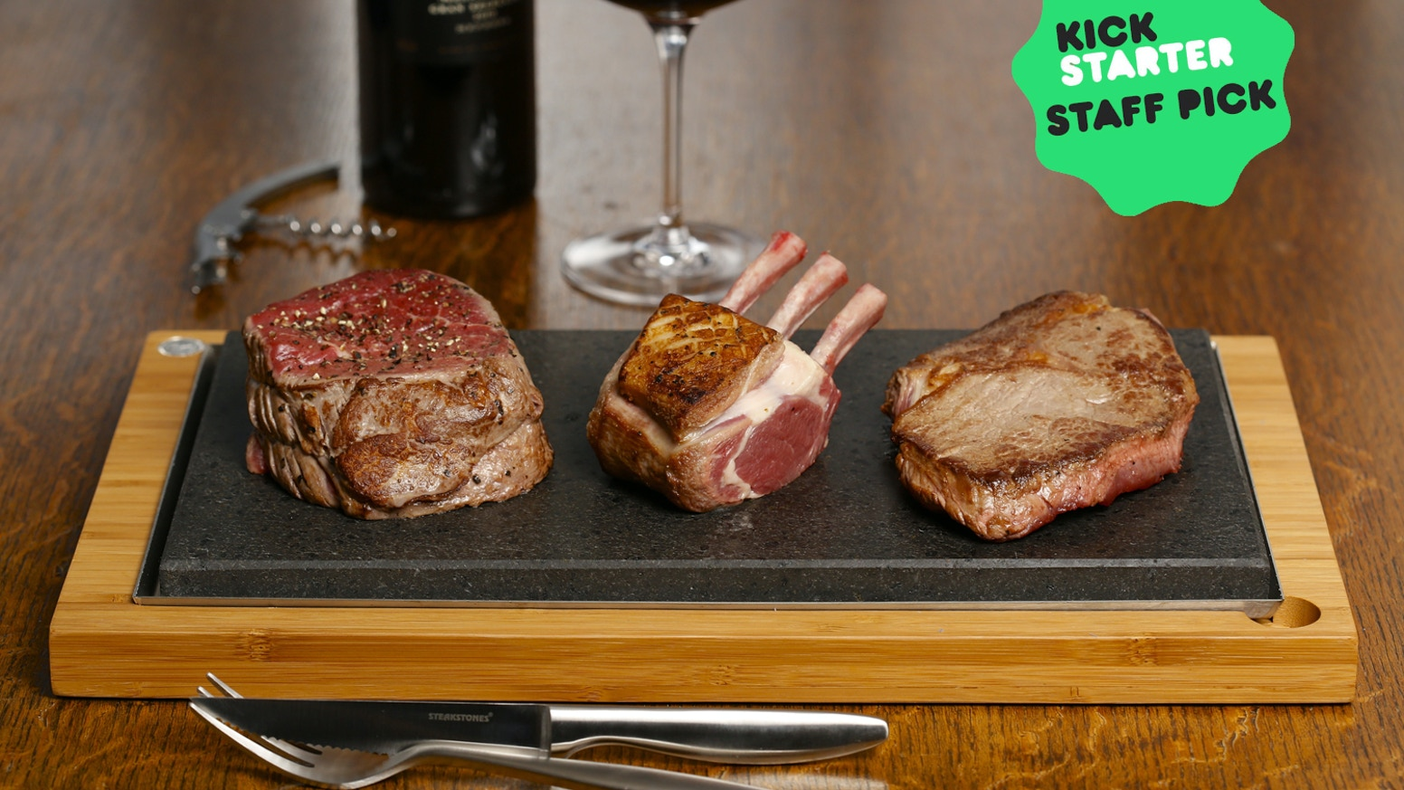 SteakStones allow you to cook every bite of steak exactly as you like and enjoy every last mouthful as hot and delicious as the first.