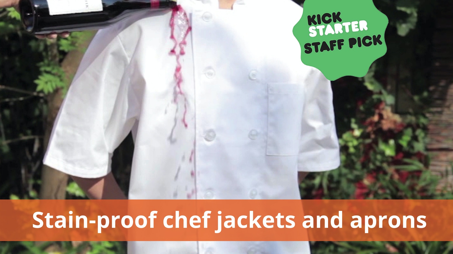 The world's most advanced chef jackets and aprons made hydrophobic.